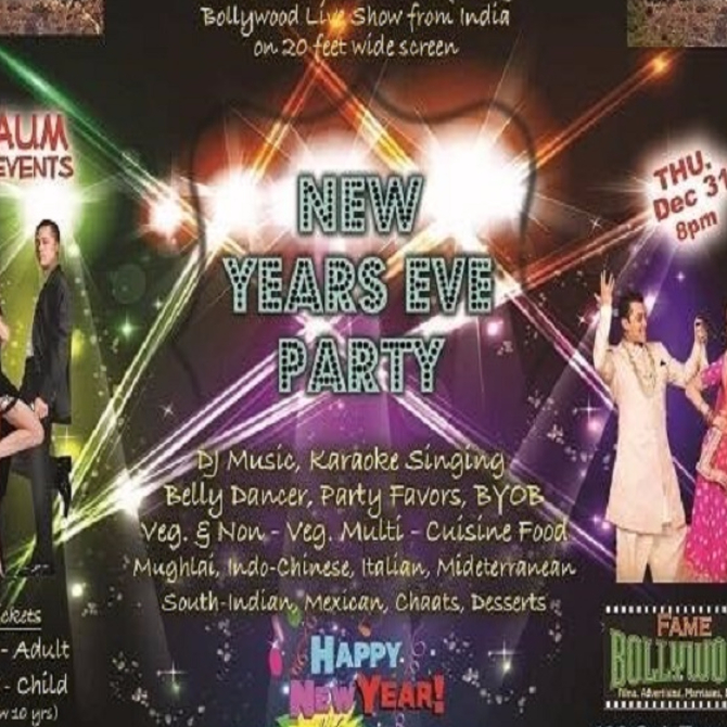 Aum events present new years eve party hollywood bollywood for Aum indian cuisine