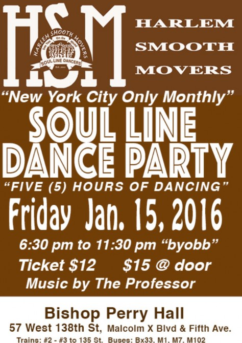 Harlem Smooth Movers SLD Party - 15 JAN 2016