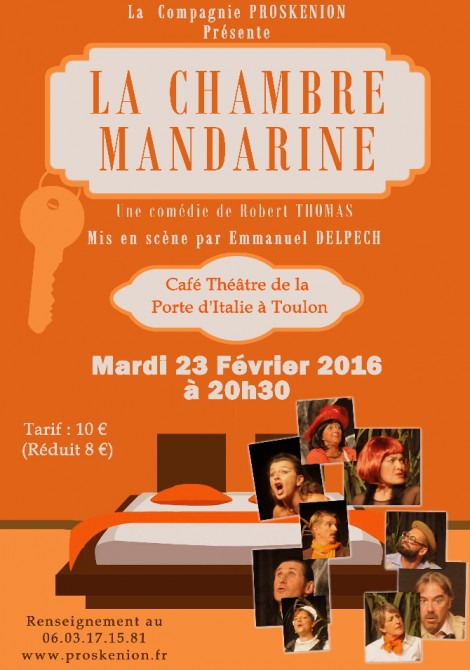 La chambre mandarine caf th tre de la porte d 39 italie for La chambre mandarine