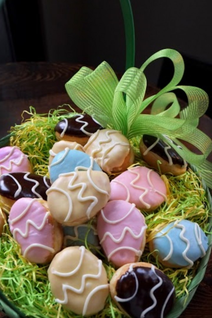 An Easter Basket of Egg-Shaped Artisan Donuts from Firecakes Donuts is a Beautiful Way to Sweeten This Special Day