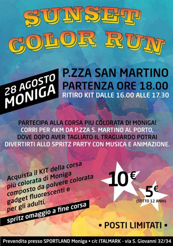 SUNSET COLOR RUN A MONIGA DEL GARDA