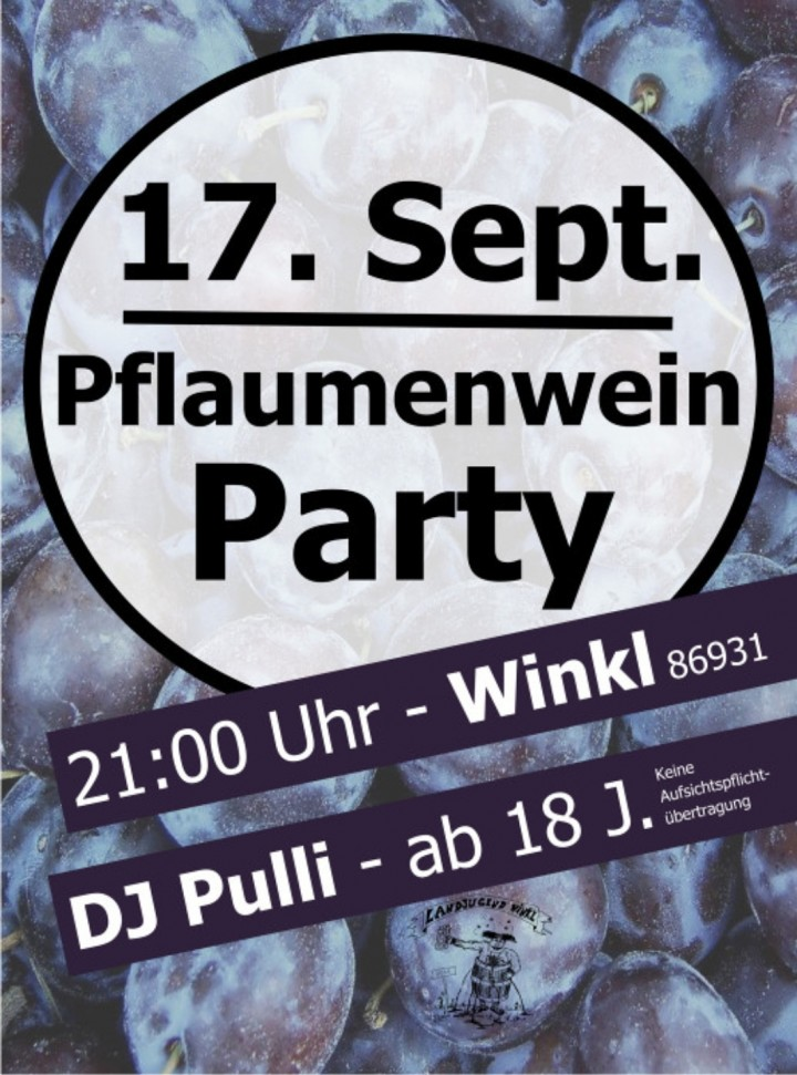 Pflaumenwein Party Winkl