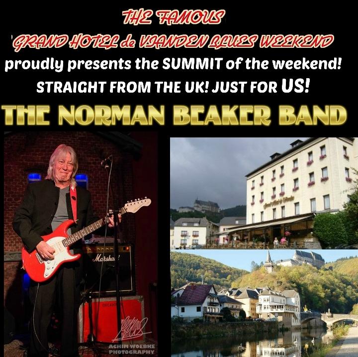 The Norman Beaker Band set to headline Grand Hotel de Vianden Blues Weekend, Luxembourg 15 October