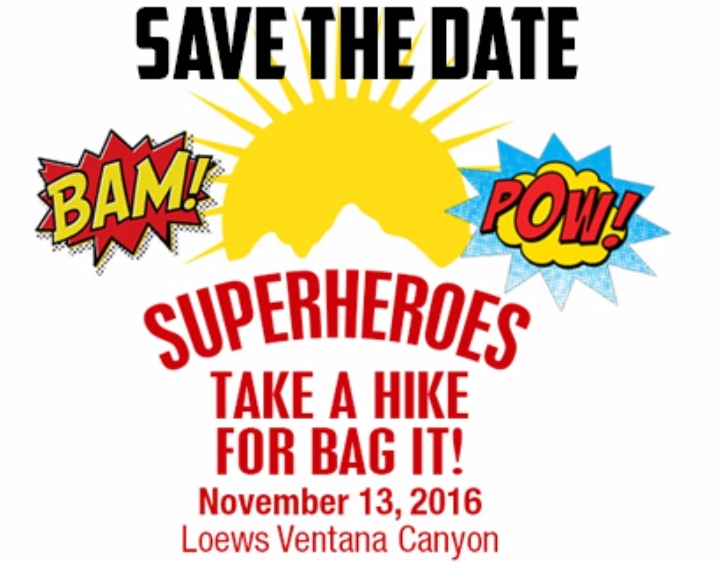 Superheroes Hike for BAG IT