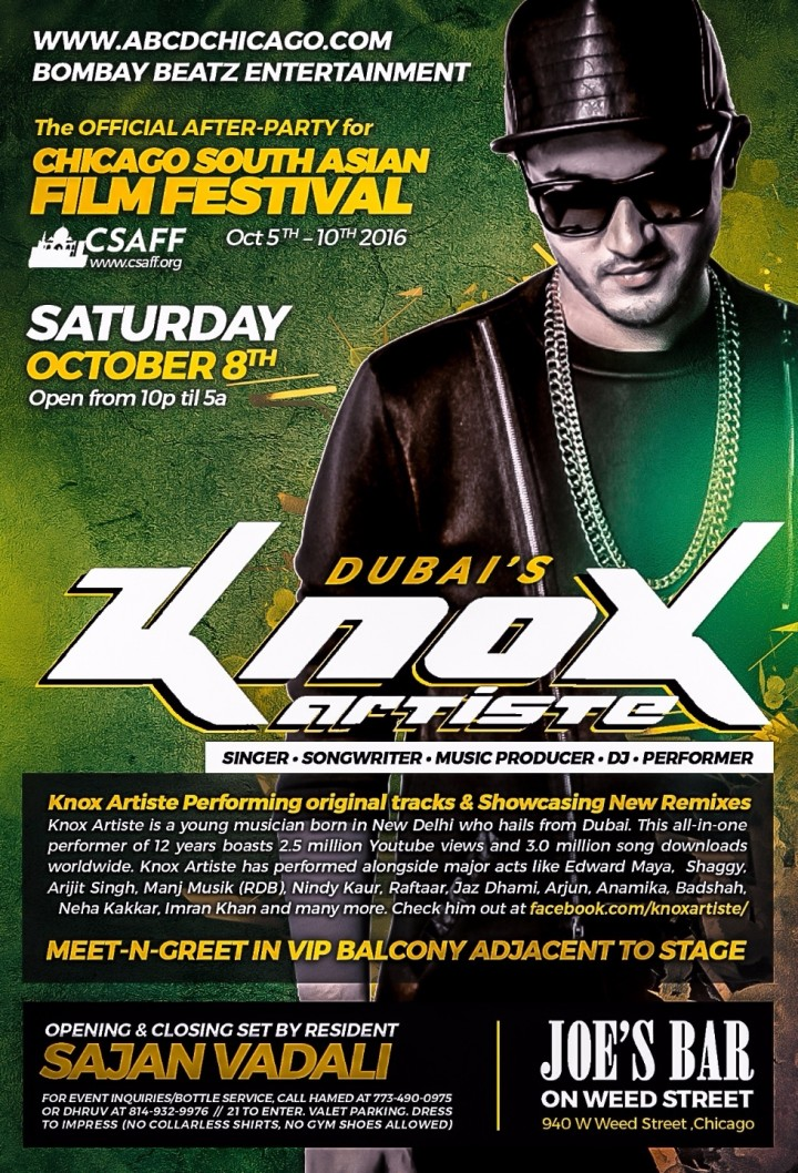 Dubai's KNOX ARTISTE Live! - Official After-P