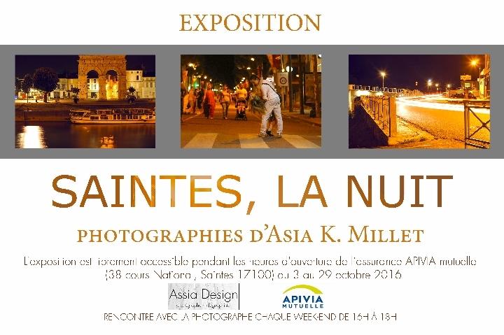 """EXPOSITION PHOTOS """"SAINTES, LA NUIT"""""""