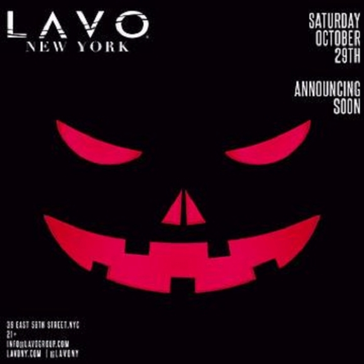 Saturday Lavo NYC Halloween Party w/ Open Bar