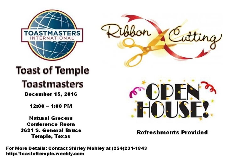 Toast of Temple Toastmasters Open House