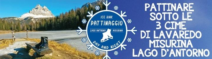 Pattinare al Lago d' Antorno a Misurina
