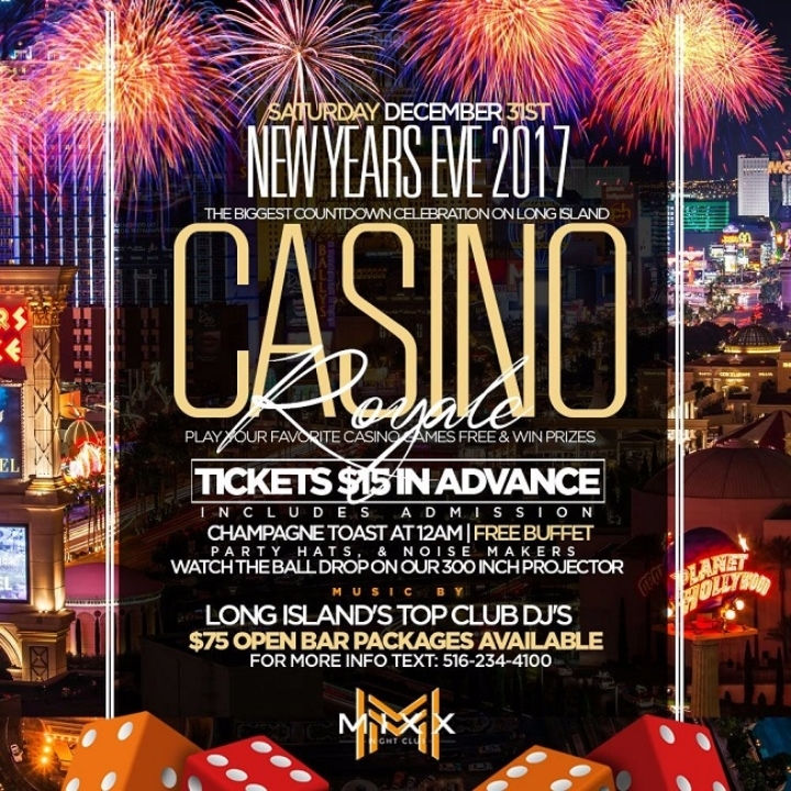 New Years Eve 2017 on Long Island: Casino ROY