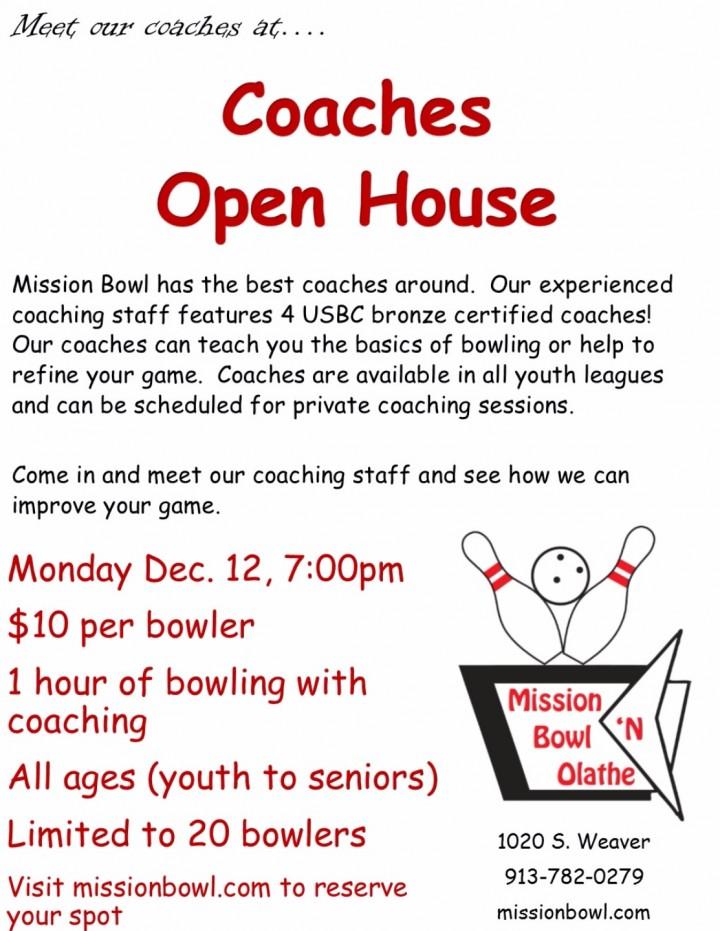 Coaches Open House