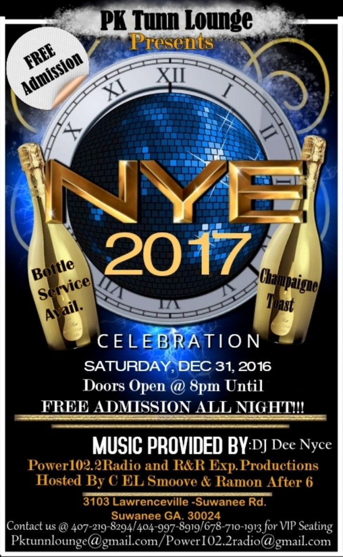 2017NYE PARTY: NYEPKTUNN Free Admission All N