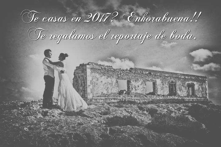 Te regalamos un reportaje de boda 2017
