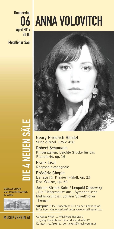 Der Wiener Musikverein präsentiert: Anna Volo