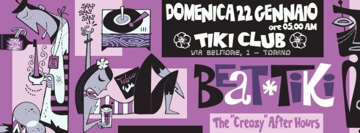 "BEAT TIKI ""The Creazy After Hours""   TIKI BEA"