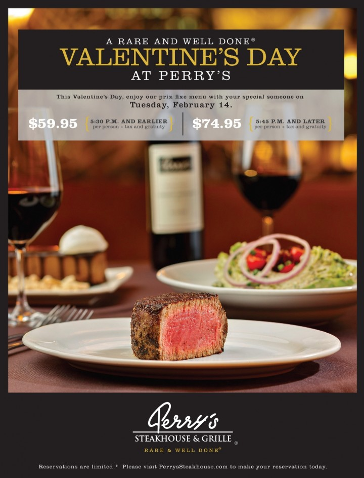 Indulge in a Rare and Well Done® Valentine's Day with Your Better Half at Perry's Steakhouse & Grille