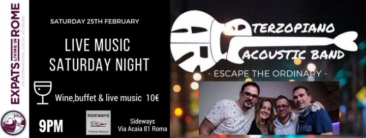 Rome Expats Saturday Live Music Aperitivo