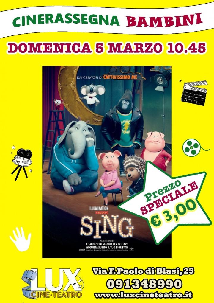 """""""Sing"""": cinema e divertimento domenica mattin"""