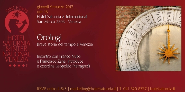 Orologi - Breve storia del tempo a Venezia