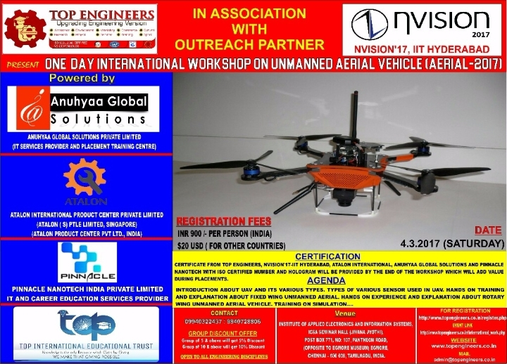 ONE  DAY INTERNATIONAL WORKSHOP ON UNMANNED A