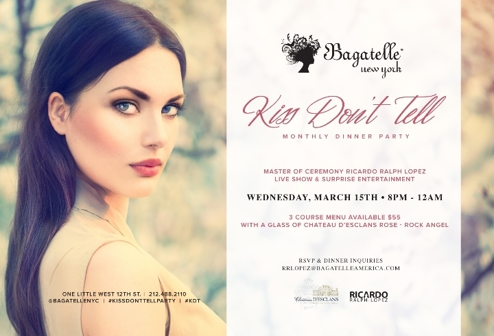 Bagatelle Hosts a Kiss Don't TellParty with