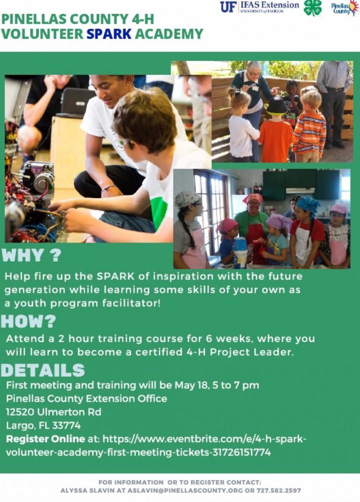 Pinellas County 4-H Volunteer SPARK Academy F