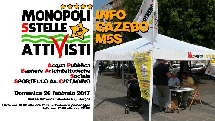 INFO GAZEBO MONOPOLI5STELLE