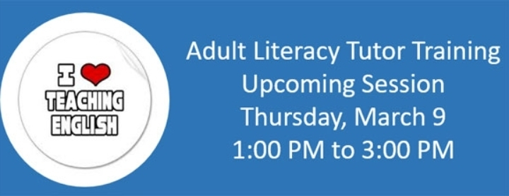 Adult Literacy Volunteer Tutor Training