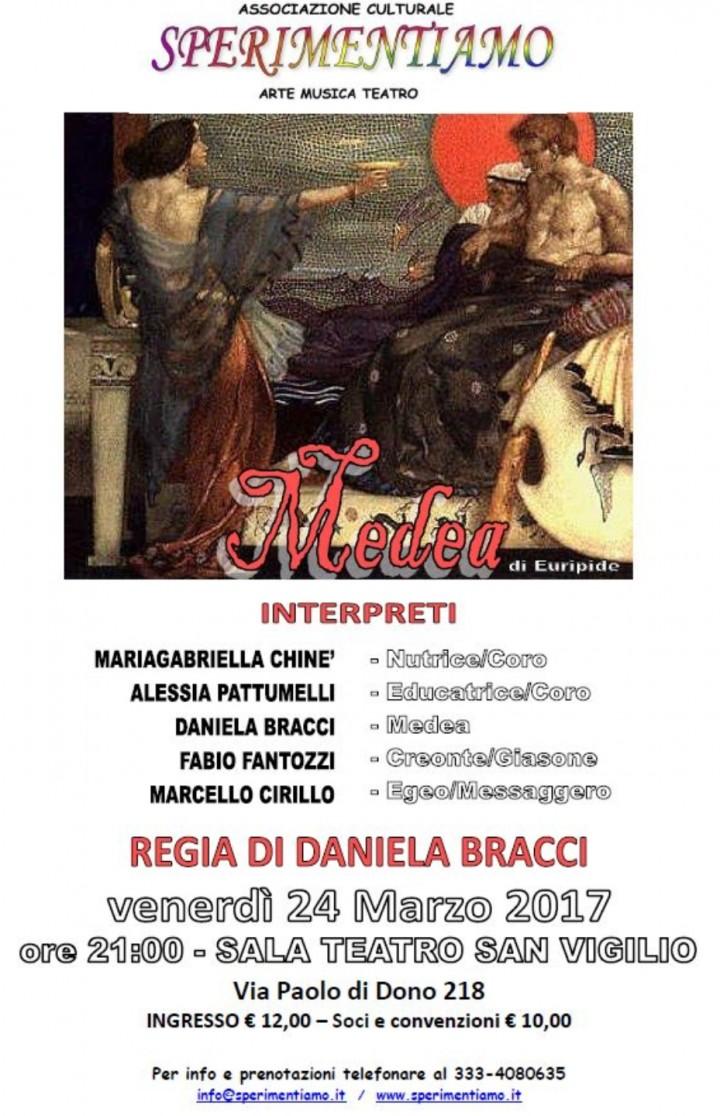 "Arriva alla Sala Teatro di San Vigilio ""Medea"