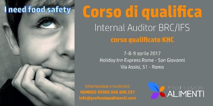 Corso di Qualifica Internal Auditor BRC/IFS