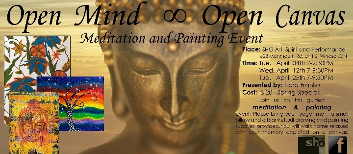 Open Mind  ∞  Open Canvas  Meditation & Paint