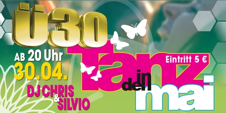 Tanz in dem Mai Ü30 Party