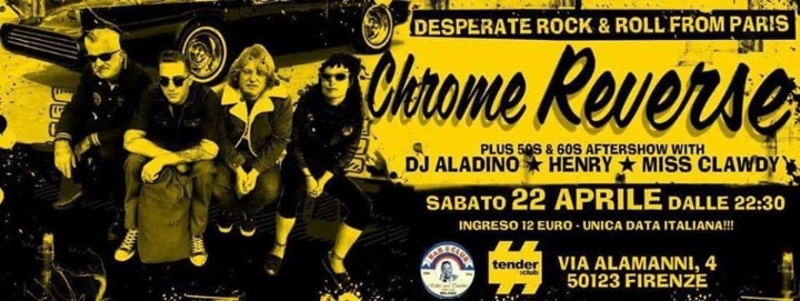 Chrome Reverse live + Djset @tender:club