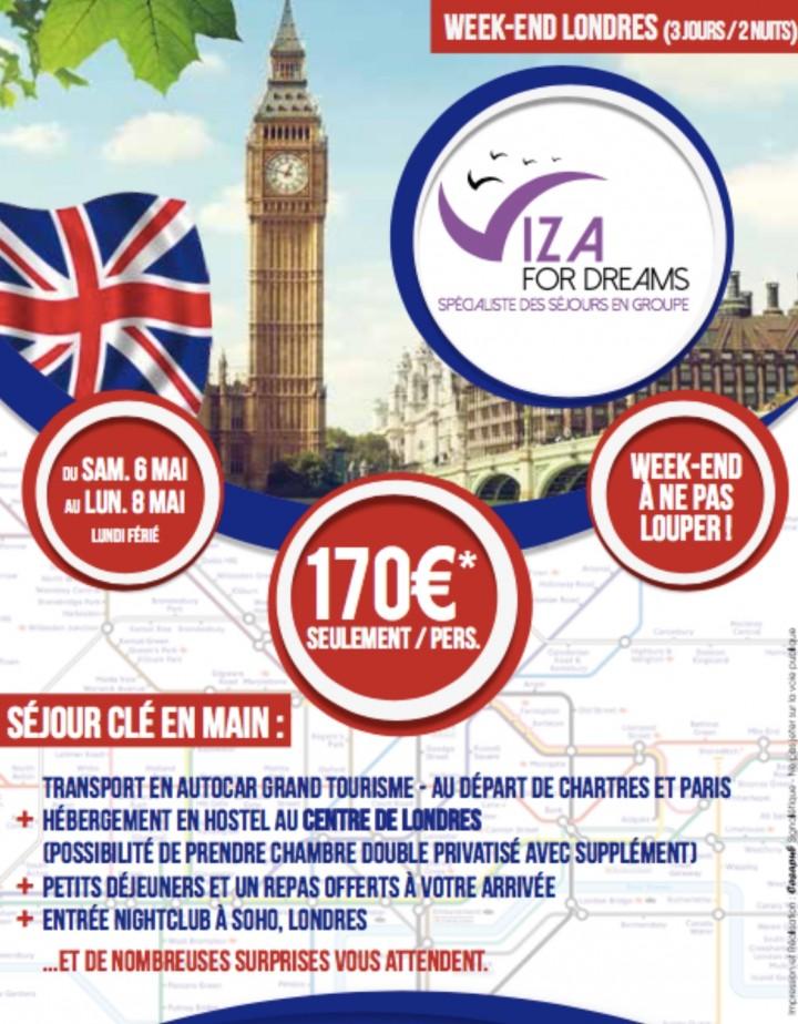 Séjour à Londres du 06 au 08 mai