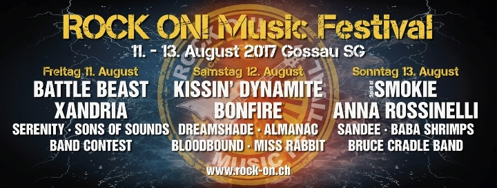 ROCK ON! Music Festival 11. - 13. August 2017