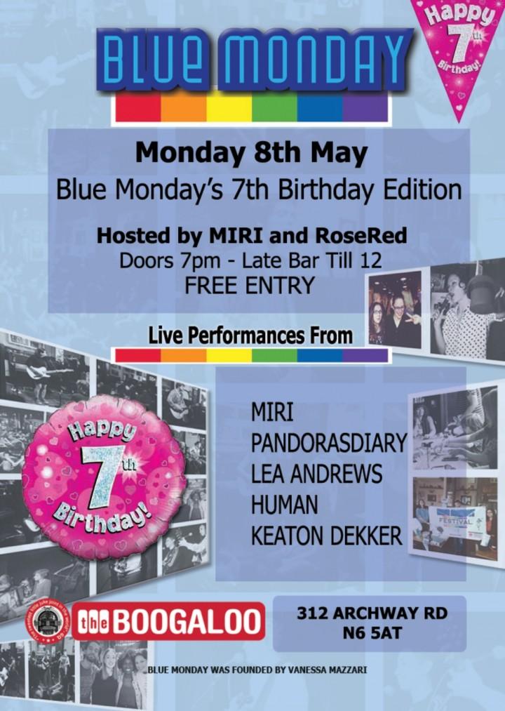 Blue Monday Live Music Night