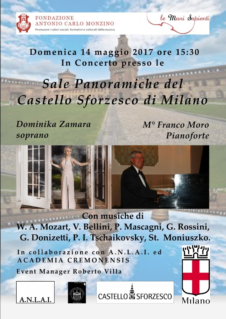 Recital al Castello Sforzesco di Milano