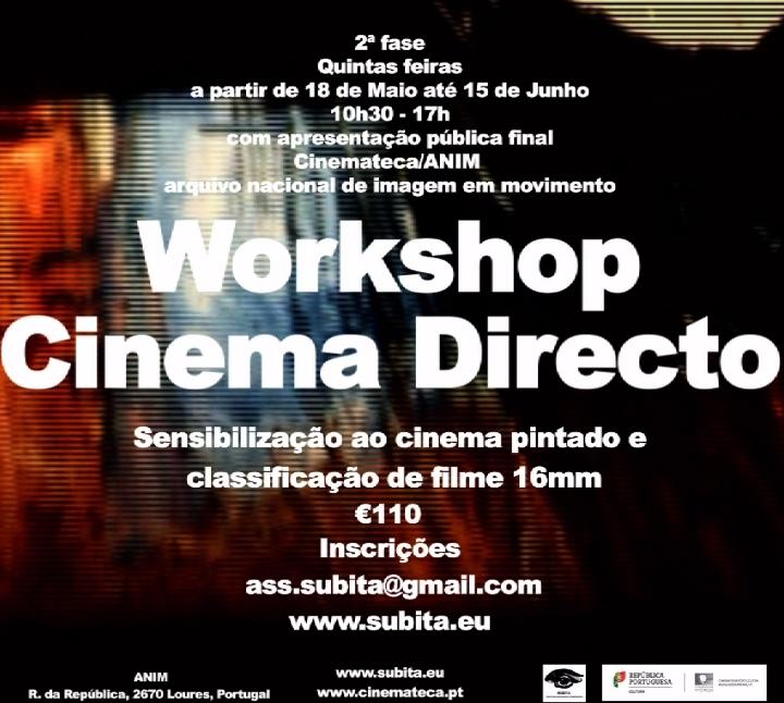 Workshop Cinema Directo em filme 16mm