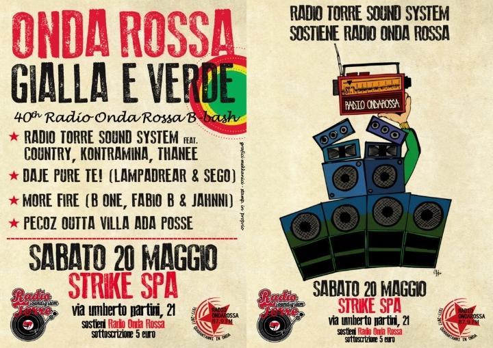 ONDA ROSSA Gialla e verde - 40th Radio Onda Rossa B-Bash