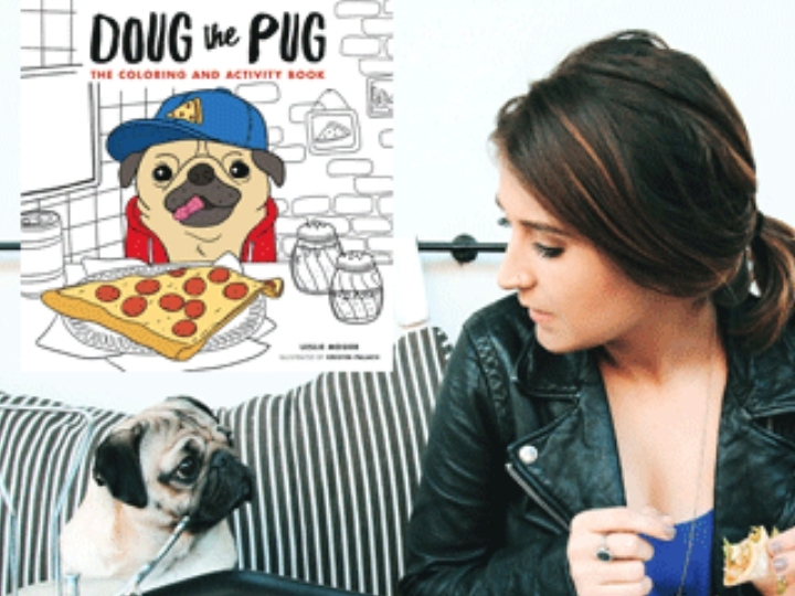 DOUG THE PUG & LESLIE MOSIER at Books Inc. Op