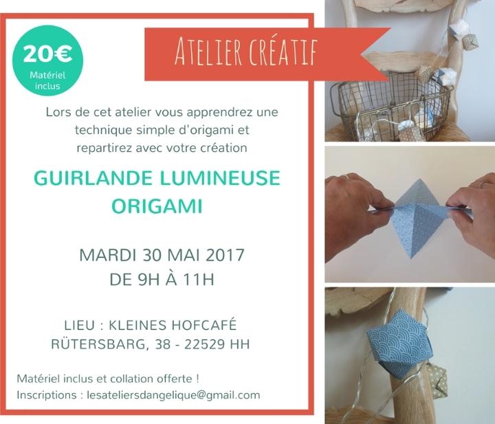 Atelier créatif Guirlande Lumineuse Origami