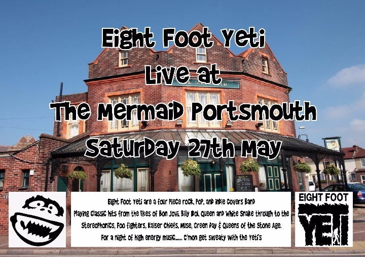 Eight Foot Yeti live at the Mermaid Porstsmou
