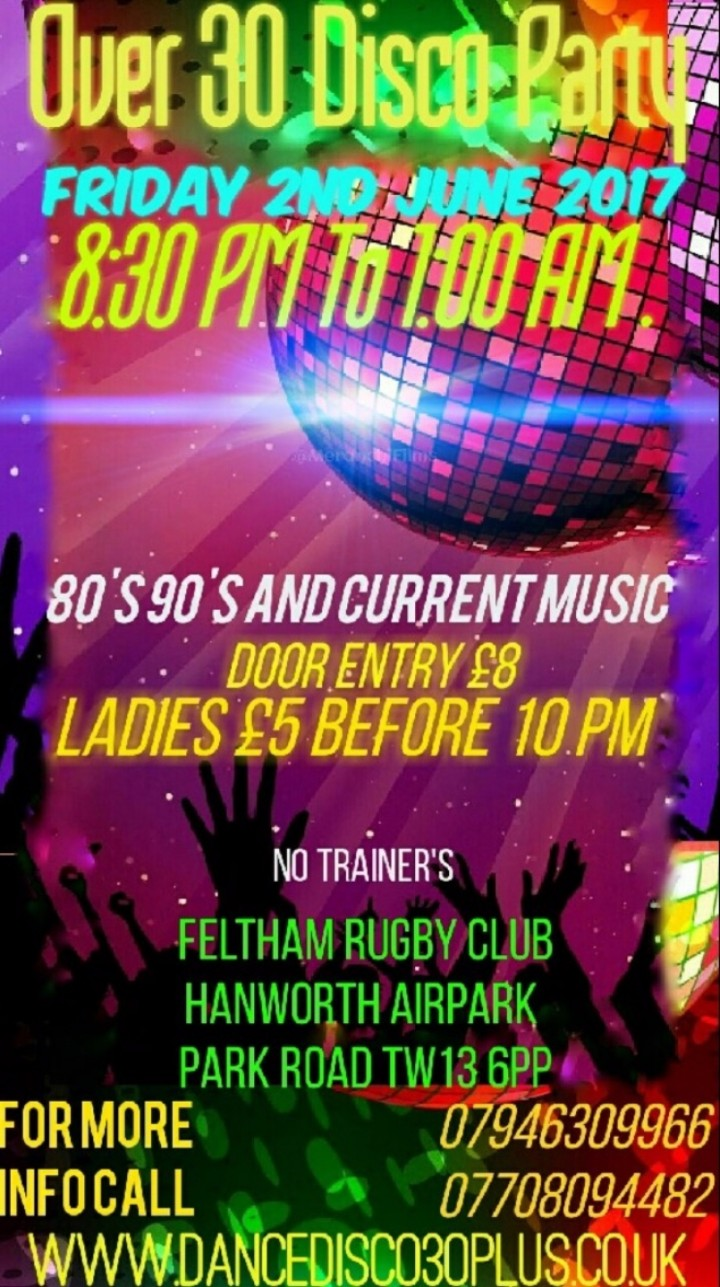 Over 30's Disco Party