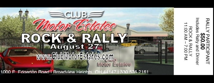 ROAD RALLY - ROCK & RALLY - August 27, 2017