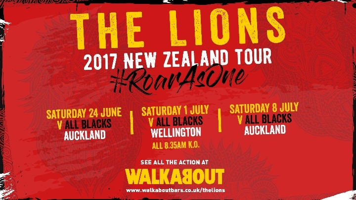 The 2017 Lions Tour to New Zealand, live at W