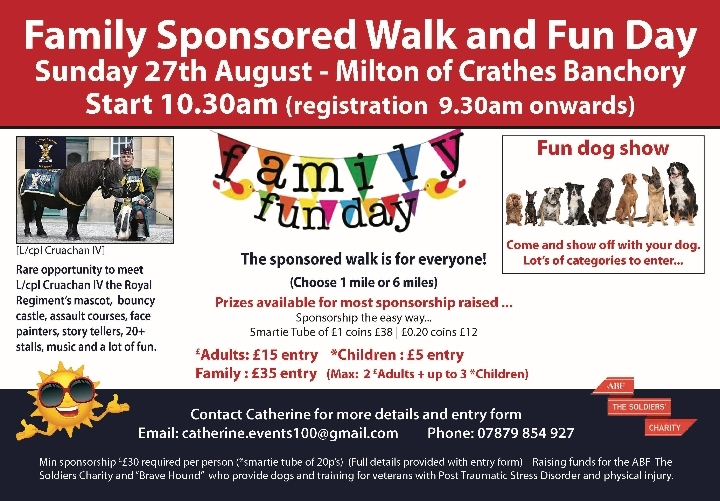 Sponsored Walk and Family Fun day.