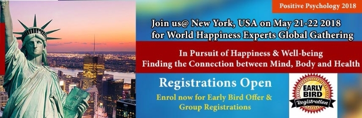 29th World Summit on Positive Psychology, Mindfulness & Psychotherapy, May 21-22, 2018 New York City, New York, USA
