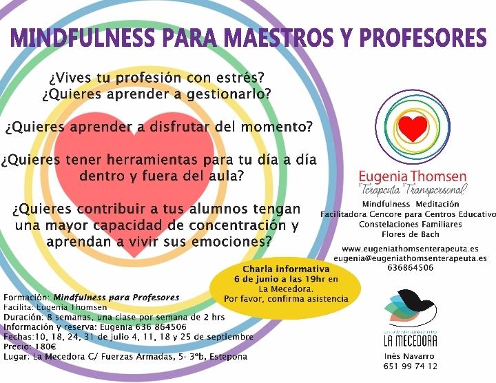 CURSO DE MINDFULNESS PARA MAESTROS Y PROFESORES