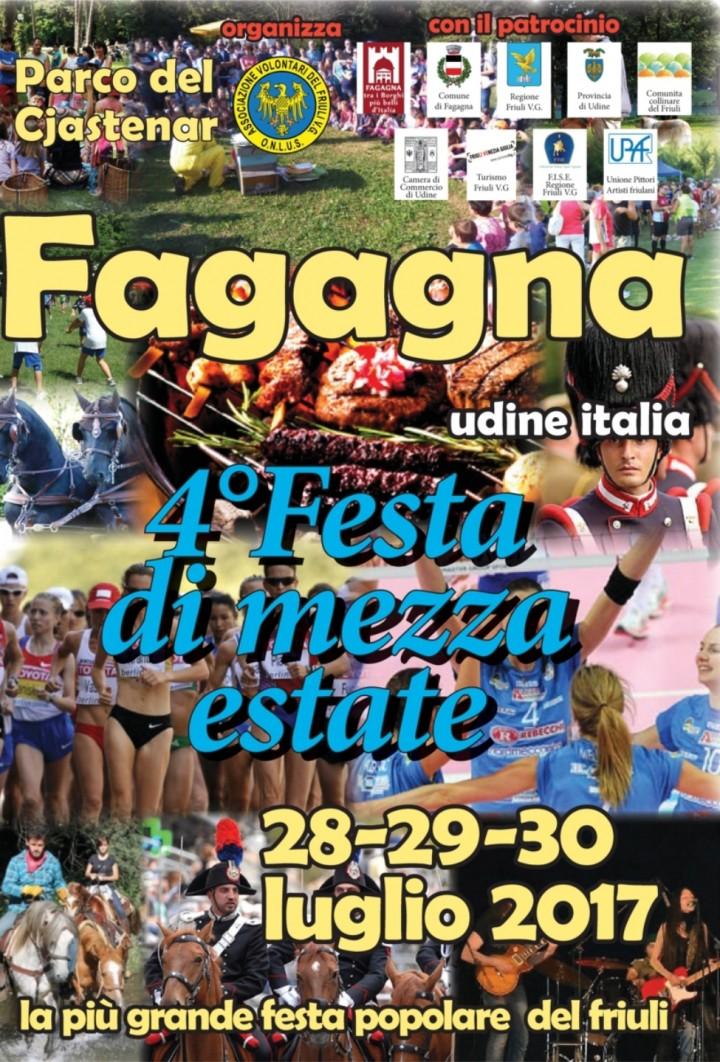Festa Di Mezzaestate 28 - 29 - 30 Luglio 2017 Fagagna