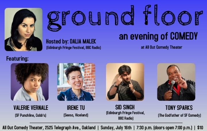 Ground Floor –an evening of comedy